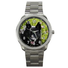 Norwegian Buhund Sport Metal Watch