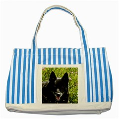 Norwegian Buhund Striped Blue Tote Bag