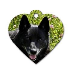 Norwegian Buhund Dog Tag Heart (One Side)