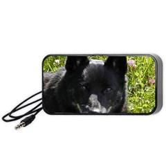 Norwegian Buhund Portable Speaker (Black)