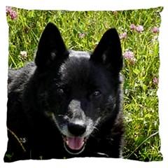 Norwegian Buhund Large Flano Cushion Case (Two Sides)