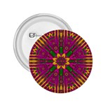 Feather Stars Mandala Pop Art 2.25  Buttons Front