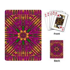 Feather Stars Mandala Pop Art Playing Card