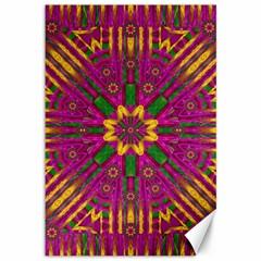 Feather Stars Mandala Pop Art Canvas 12  x 18