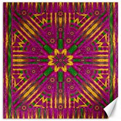 Feather Stars Mandala Pop Art Canvas 20  X 20
