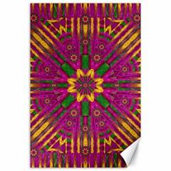 Feather Stars Mandala Pop Art Canvas 24  X 36