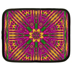 Feather Stars Mandala Pop Art Netbook Case (XXL)