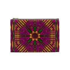 Feather Stars Mandala Pop Art Cosmetic Bag (Medium)