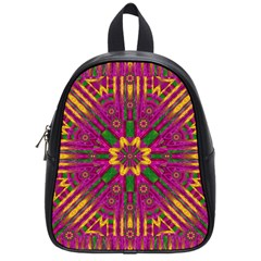 Feather Stars Mandala Pop Art School Bags (Small)