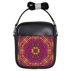 Feather Stars Mandala Pop Art Girls Sling Bags