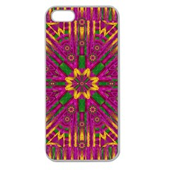 Feather Stars Mandala Pop Art Apple Seamless iPhone 5 Case (Clear)