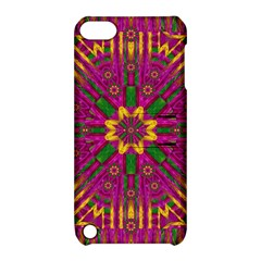 Feather Stars Mandala Pop Art Apple Ipod Touch 5 Hardshell Case With Stand