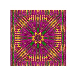 Feather Stars Mandala Pop Art Small Satin Scarf (square)