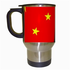 Pug China Flag Travel Mugs (White)