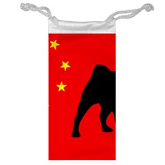 Pug China Flag Jewelry Bag