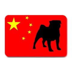Pug China Flag Plate Mats