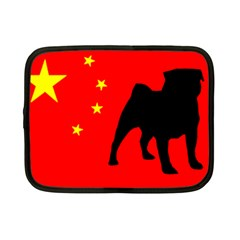 Pug China Flag Netbook Case (Small)