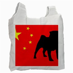 Pug China Flag Recycle Bag (Two Side)