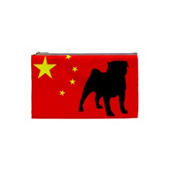 Pug China Flag Cosmetic Bag (Small)