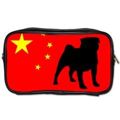 Pug China Flag Toiletries Bags 2-Side