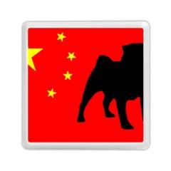 Pug China Flag Memory Card Reader (Square)