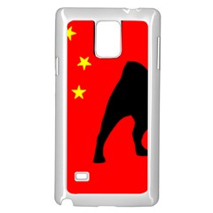 Pug China Flag Samsung Galaxy Note 4 Case (White)