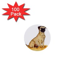 Pug Color Drawing 1  Mini Buttons (100 pack)
