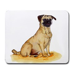 Pug Color Drawing Large Mousepads