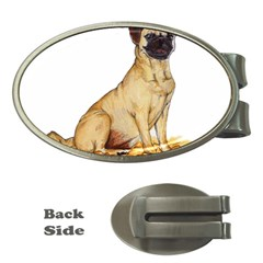 Pug Color Drawing Money Clips (Oval)