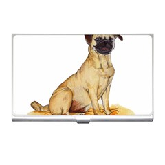 Pug Color Drawing Business Card Holders