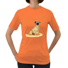 Pug Color Drawing Women s Dark T-Shirt