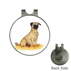 Pug Color Drawing Hat Clips with Golf Markers