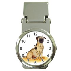 Pug Color Drawing Money Clip Watches