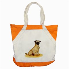 Pug Color Drawing Accent Tote Bag