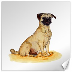 Pug Color Drawing Canvas 20  x 20