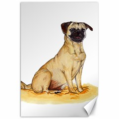 Pug Color Drawing Canvas 20  x 30