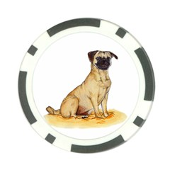 Pug Color Drawing Poker Chip Card Guard (10 pack)