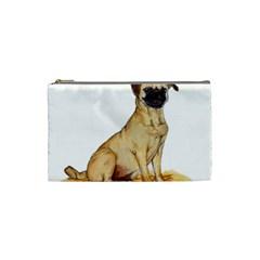 Pug Color Drawing Cosmetic Bag (Small)