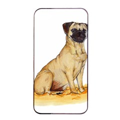 Pug Color Drawing Apple iPhone 4/4s Seamless Case (Black)