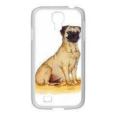 Pug Color Drawing Samsung GALAXY S4 I9500/ I9505 Case (White)