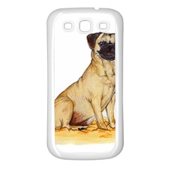 Pug Color Drawing Samsung Galaxy S3 Back Case (White)