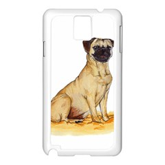 Pug Color Drawing Samsung Galaxy Note 3 N9005 Case (White)