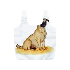 Pug Color Drawing Full Print Recycle Bags (S)