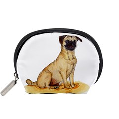 Pug Color Drawing Accessory Pouches (Small)