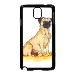 Pug Color Drawing Samsung Galaxy Note 3 Neo Hardshell Case (Black)