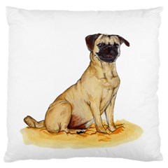 Pug Color Drawing Standard Flano Cushion Case (One Side)