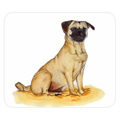 Pug Color Drawing Double Sided Flano Blanket (Small)