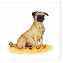 Pug Color Drawing Large Satin Scarf (Square)