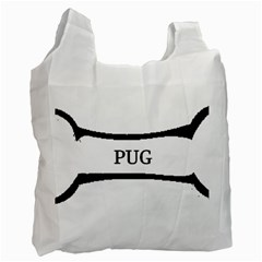 Pug Dog Bone Recycle Bag (Two Side)