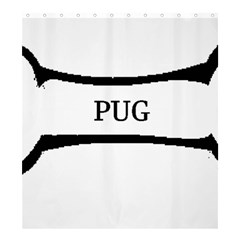 Pug Dog Bone Shower Curtain 66  x 72  (Large)